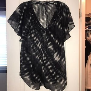 Express Sheer Shortsleeved Blouse